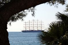 Five Masted Sailing Ship Royal Clipper off Piran Slovenia | by Lawrence Chard