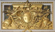 Gilded French Trumeau Mirror