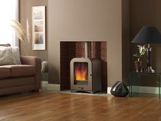 woodburning stove - The Vesta Made in the UK. Huge Glass window and large firebox a true style icon for your fireplace. Make your house a home with a Vesta Stove Wood Burner Fireplace, Fireplace Hearth, Fireplaces, Fireplace Ideas, Modern Log Burners, Double Sided Stove, Contemporary Wood Burning Stoves, Old Wood Doors, Slate Hearth