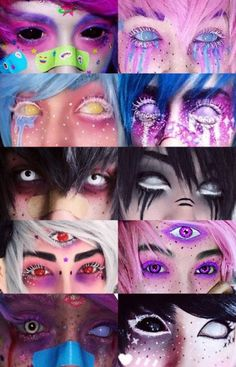 Caz Fhey Cosplay In 2019 Pastel Goth Makeup Goth Makeup Pastel Goth Makeup, Pastel Goth Nails, Pastel Goth Fashion, Pink Makeup, Pastel Goth Art, Gothic Fashion, Kawaii Makeup, Cute Makeup, Makeup Art