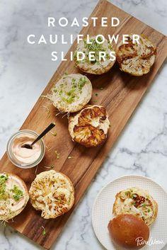 Roasted Cauliflower Sliders #purewow #recipe #sandwich #vegetarian #cauliflower #dinner #lunch