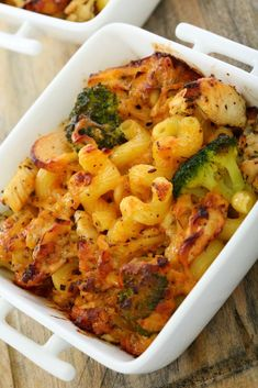 Zapekané cestoviny s brokolicou Broccoli, Cauliflower, Macaroni And Cheese, Shrimp, Meat, Vegetables, Ethnic Recipes, Food, Mac And Cheese