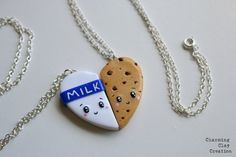 This cookies and milk BFF necklace ($15). | 27 Absurdly Cute Gifts That No One Could Resist