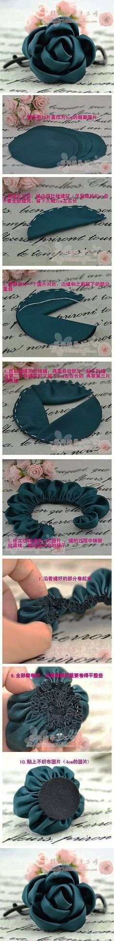 sewing flower... ♥ Deniz ♥: