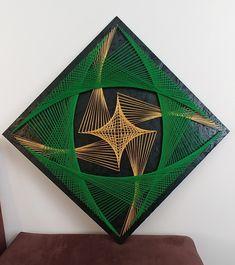 String Wall Art, Nail String Art, Cat Crafts, Arts And Crafts, Arte Linear, String Art Patterns, Textile Fiber Art, Thread Art, Weaving Patterns