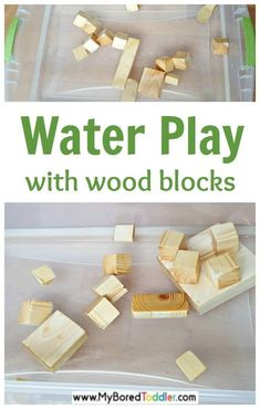 Water Play with Wood Blocks Water play with wooden blocks and wood toys for toddlers an easy water play summer toddler activity idea The post Water Play with Wood Blocks appeared first on Toddlers Ideas. Quiet Toddler Activities, Water Play Activities, Summer Activities For Toddlers, Toddler Snacks, Toddler Play, Indoor Activities, Sensory Activities, Infant Activities, Toddler Preschool