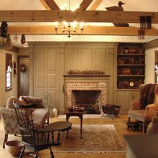 traditional family room by Classic Colonial Homes, Inc.