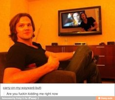 Find images and videos about supernatural, Jensen Ackles and jared padalecki on We Heart It - the app to get lost in what you love. Sam Winchester, Jared Padalecki, Misha Collins, Jensen Ackles, Sammy Supernatural, The Lord, Interview, Cw Series, Super Natural