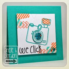 Snappy Stampin' w/ Arielle: WE CLICK / TAWS Re-Be Inspired Challenge... TAWS/ The Alley Way Stamps - Set(s): Tag-alongs & Framed