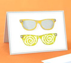DIY Sunglasses Card. Make It Now in Cricut Design Space with the Cricut Explore machine.