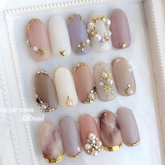 Ideas For Wedding Bridesmaids Nails Beautiful Fabulous Nails, Gorgeous Nails, Love Nails, Pretty Nails, Korean Nail Art, Korean Nails, Bridesmaids Nails, Wedding Bridesmaids, Asian Nails