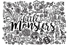 Hand Drawn Doodle Pattern & Sets 2 by Romz on @creativemarket