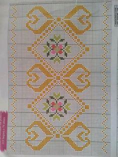 Cross Stitch Borders, Cross Stitch Flowers, Cross Stitch Designs, Cross Stitch Patterns, Embroidered Bag, Bargello, Cross Stitch Embroidery, Embroidery Designs, Hand Weaving