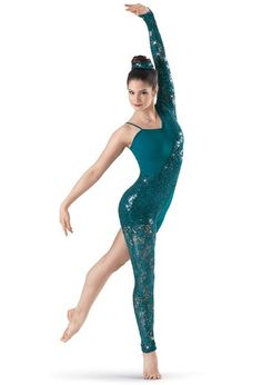Weissman™ | Asymmetrical Sequin Lace Unitard