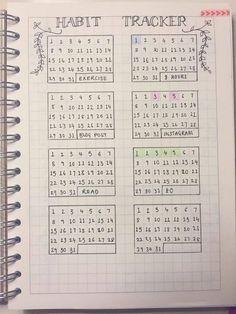 ItsSarahAnn: Bullet Journal - alternative habit tracker layout