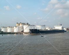 chemical tanker in the harbour of lagos , nigeria