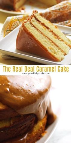 The best real Southern caramel cake recipe on the Easy Desserts, Delicious Desserts, Dessert Recipes, French Desserts, Southern Desserts, Best Cake Recipes, Southern Food, Mini Cakes, Cupcake Cakes
