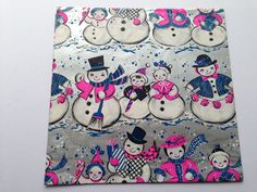 Vintage Gift Wrapping Paper  Jolly Snowman by TheGOOSEandTheHOUND, $6.00