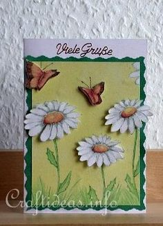 Another cool card using paper napkins!