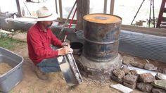 Building a Rocket Mass stove https://www.youtube.com/watch?v=qJeesxSZ4jM