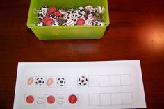 great ideas I love this patterning game with balls