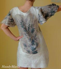 Nuno felted dress #felt #fashion