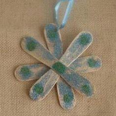 Craft Stick Snowflakes