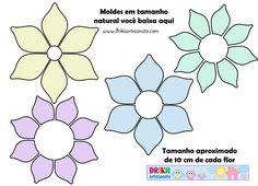 Moldes de flores em EVA ou patch aplique