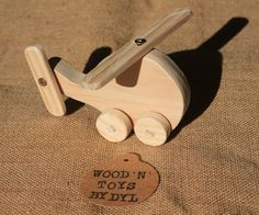 Ross minis - Handmade Wooden Toy Helicopter, Plane, Cars- are mini push toys for toddlers and young children. These handmade wooden toys are made from natural pine wood. These adorable wooden toys are the perfect size for very little hands. They push easily along the floor and is an