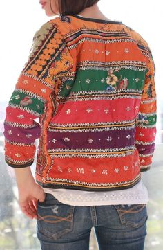 Anjuna Jacket - II Cultural Diversity, Hand Stitching, Christmas Sweaters, India, Celebrities, How To Make, Collection, Fashion, Jacket