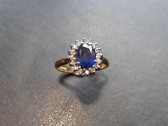 Currently at the #Catawiki auctions: Sapphire and Diamond cluster ring