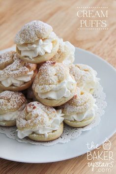 Homemade Cream Puffs Recipe - YUM! { lilluna.com } Easy to make and everyone will love them!