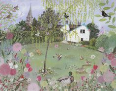 Rose Cottage in May - Lucy Grossmith