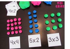 Multiplication small groups activities and lesson plan ideas to make arrays and equal groups easy and … Learning Multiplication Facts, Math Facts, Teaching Math, Array Multiplication, Maths, Math Fractions, Fun Math, Math Activities, Leadership Activities