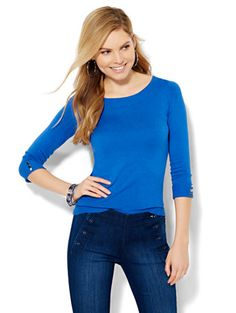Shop Bateau-Neck Sweater - Solid . Find your perfect size online at the best price at New York & Company.