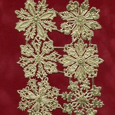 """New """"Dresdens"""" are in the shop including these beautiful gold foil snowflakes. Dresdens are made in just a few small companies in Germany with antique molds. The attention to detail in these foil die cuts is still second to none after 100 plus years!"""