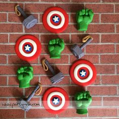 EDIBLE Fondant Toppers  Avengers Inspired by PartyNV on Etsy, $39.00