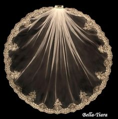 NEW - Royal Collection - Ivory & Gold Embroidered wedding Veil