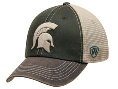 Michigan State Spartans Top of the World Green Offroad Adjust Snapback Hat Cap