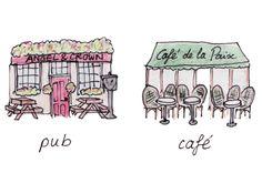 Les cafés sont plus populaire à Paris que à Londres.