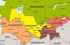 8 Best Central Asia Maps images | Central asia map, Maps, Blue prints