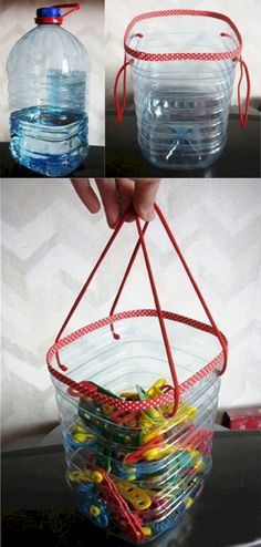 Super 15 Easy DIY Ideas with Plastic Bottle http://godiygo.com/2017/11/07/15-easy-diy-ideas-plastic-bottle/