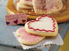 Heart of my Heart Cookies. Who wouldnt love delicious decorated heart-shaped sugar cookies?