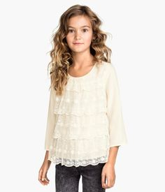 H&M Tiered Blouse $17.95