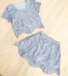 "Shop @loversfriendsla ""Daycation Crop Top"" + ""Mai Tai Skirt"" at kkbloomboutique.com"