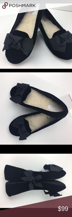 Kate Spade ♠️ Black Bow Slippers  Cozy Size 789 JUST ARRIVED!  BRAND NEW FOR HOLIDAY 2016! Kate Spade ♠️ slippers  Color: Black SIZE: Multiple available  CONDITION: New Arrives tied with a black bow.  ❌Trades❌ ⚡️We ship lightening fast⚡️ Discounts with bundles  kate spade Shoes Slippers