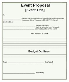event propsal template