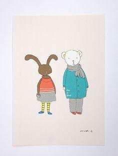 SasandYosh-ArtPrint-Bunny and Bear-3
