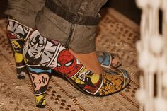 I would buys these and wear them for my little boys!  Super Hero Heels!