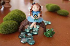 Polymer Clay Fairy - Clay Fairy - Fairy Garden Accessory - Miniature Fairy for Garden - Terrarium Accessories - Fairy Garden by GnomeWoods on Etsy https://www.etsy.com/listing/205542787/polymer-clay-fairy-clay-fairy-fairy